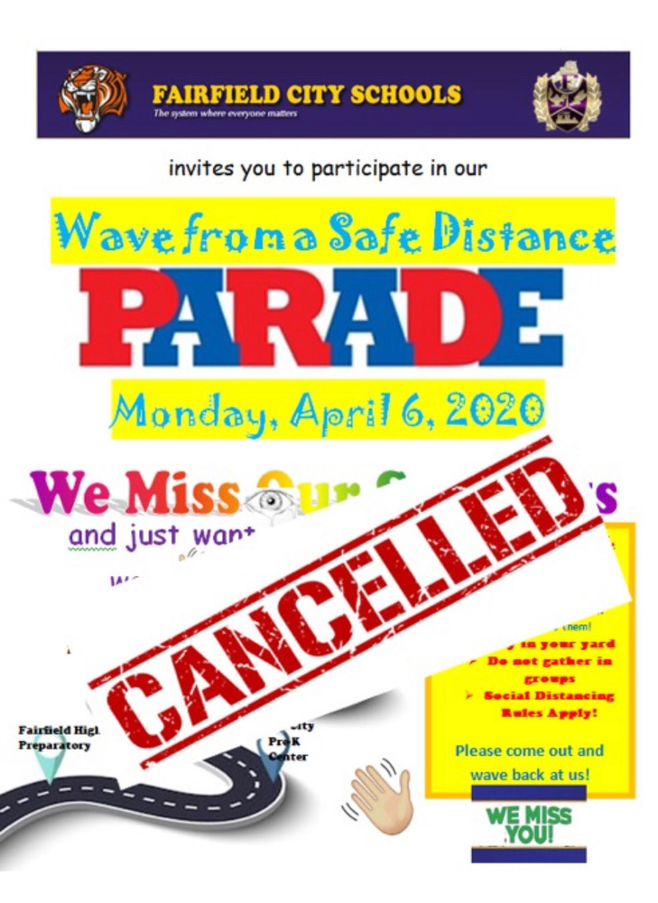Fairfield City Schools Parade Cancelled