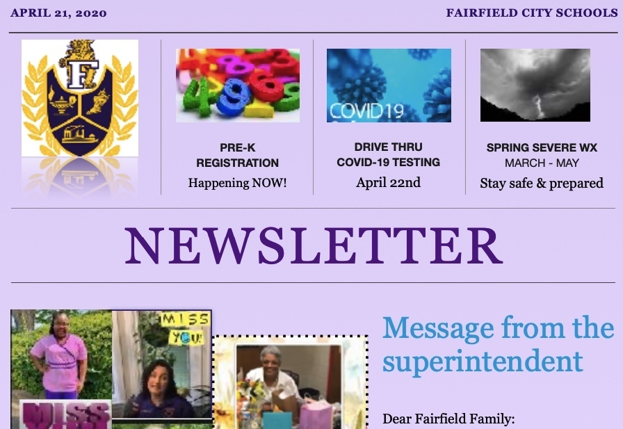 Fairfield City Schools Newsletter - 2nd edition