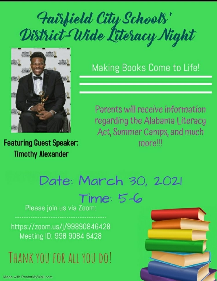 Join us for our Virtual Literacy Night! Literacy Matters!