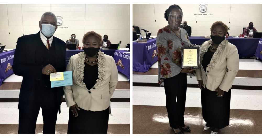 Board members receive awards from the Alabama Association of School Boards