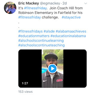 Coach Hill's Fitness Challenge! Recognized by the Alabama State Department of Education