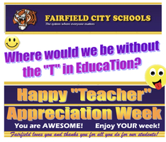 Thank you, Teachers! We appreciate all you do!