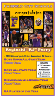 "Reginald ""RJ"" Perry ends the season with top honors"
