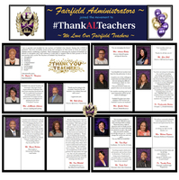 Fairfield Administrators THANK Fairfield Teachers