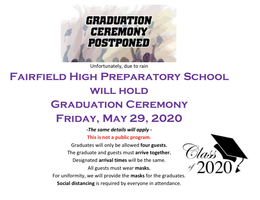 Graduation Rescheduled