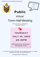 Town Hall Meeting Discussing Back to School