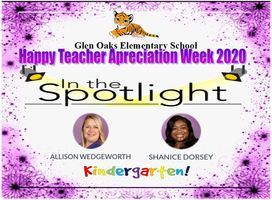 Happy Teacher's Appreciation Week!