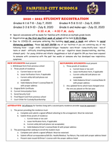 Student Registration Schedule