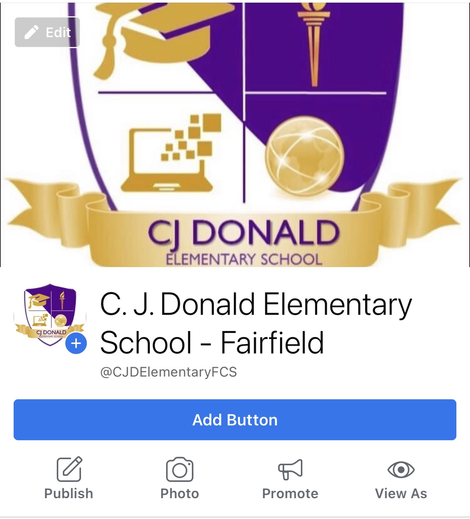 Be sure to follow our Facebook Page- C.J. Donald Elementary School - Fairfield