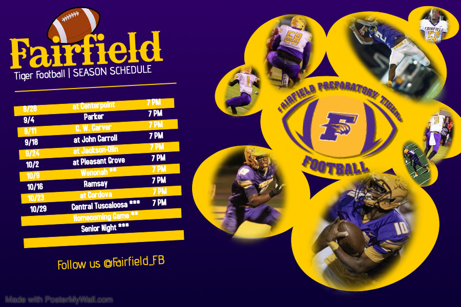 Fairfield Tigers Football Schedule